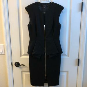 Ted Baker black peplum dress